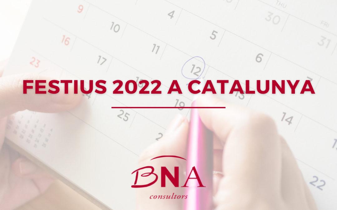 Calendari de festius de 2022: tot el que has de saber